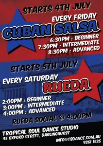 "A sample ""Cuban salsa"" flyer."