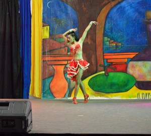 Chloé performs her solo at the Latin American Pavilion during Mosaic in Regina