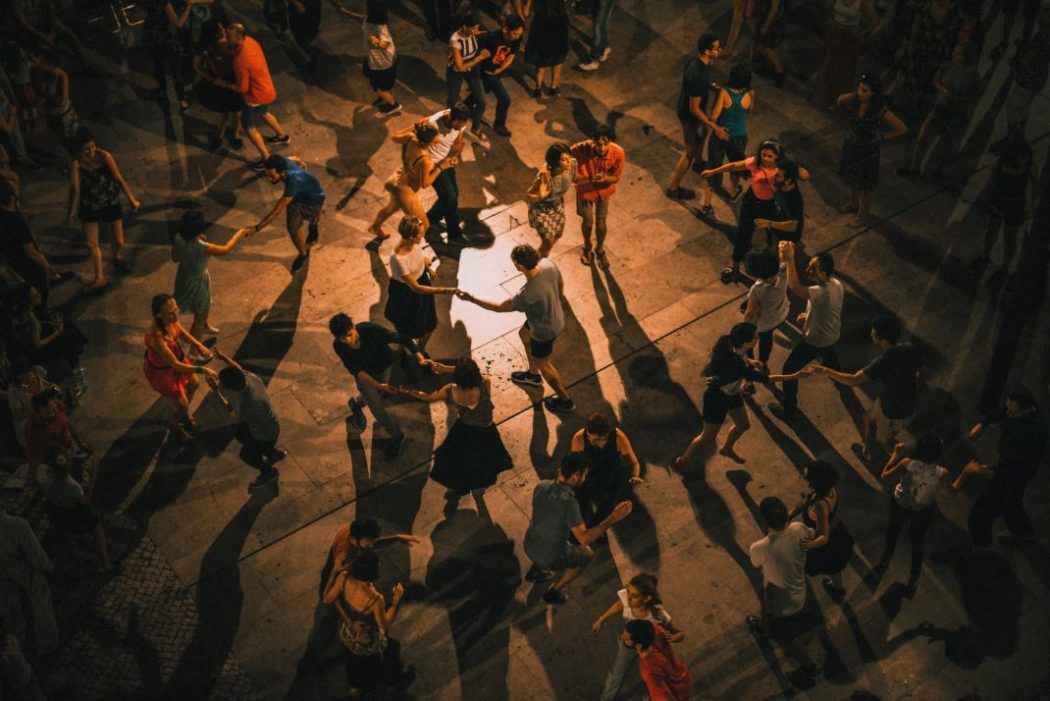 Social dancing in Lisbon, Portugal.