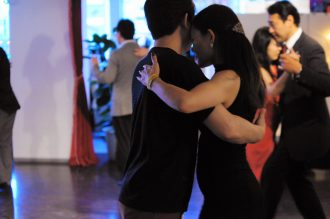 Man and woman dance tango
